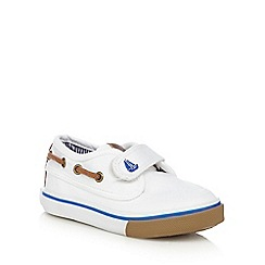 bluezoo - Boys' white boat shoes