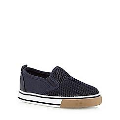 Mantaray - Boys' navy mesh slip-on shoes