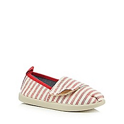 bluezoo - Boys' red striped print canvas slip-on shoes
