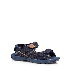 bluezoo - Boys' dark blue chambray rip tape sandals