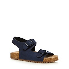 Mantaray - Boys' navy double buckle sandals