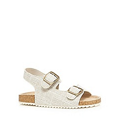 Mantaray - Boys' grey textured double buckle sandals