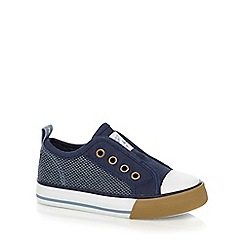 Mantaray - Boys' blue slip-on shoes