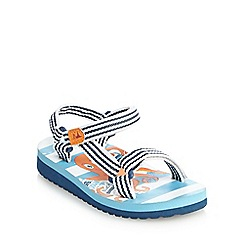 Mantaray - Boys' blue octopus printed beach trekkers