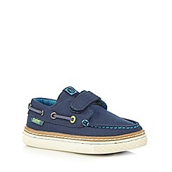 Baker by Ted Baker - Boys' navy boat rip tape shoes