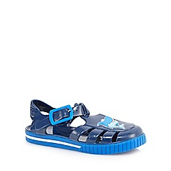 bluezoo - Boys' navy shark jelly sandals