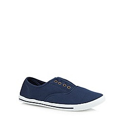 bluezoo - Boys' navy eyelet shoes