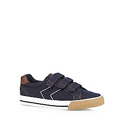 bluezoo - Boys' navy canvas trainers
