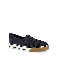 Mantaray - Boys' navy mesh slip on shoes