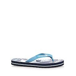 bluezoo - Boys' navy 'Jawsome' flip flops