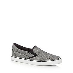 bluezoo - Boys' black textured slip-on shoes
