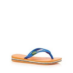 Ipanema - Boys' orange 'Rio' flip flops
