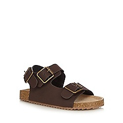 Mantaray - Boys' brown double buckle sandals