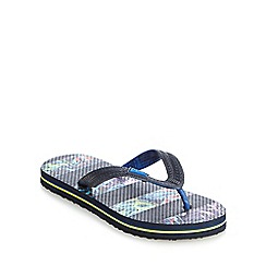 Baker by Ted Baker - Boys' navy printed striped sandals