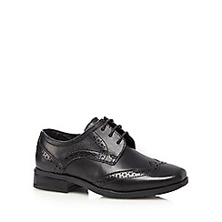 Debenhams - Boys' black leather lace up wide fit brogues