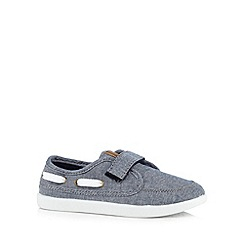 bluezoo - Boys' blue chambray boat shoes