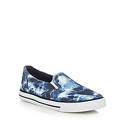 bluezoo - Boys' blue tie dye slip-on shoes
