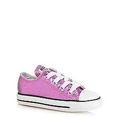 Converse - Girls' pink metallic trainers