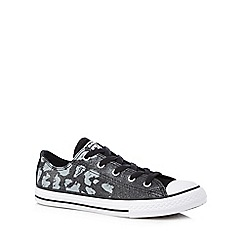 Converse - Girls' black animal print trainers