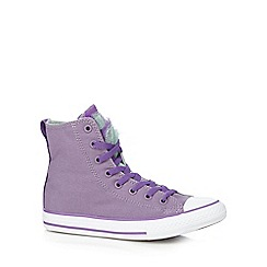 Converse - Girls' lilac 'Party' high top trainers