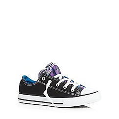 Converse - Girls' black purple checked trainers