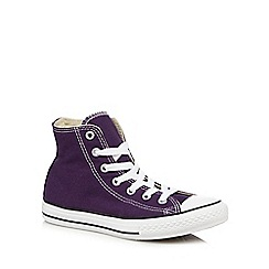 Converse - Girls' dark purple 'All Star' trainers