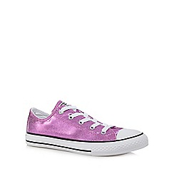 Converse - Girls' metallic trainers