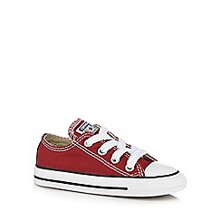 Converse - Boys' dark red 'Chuck Taylor AS OX' trainers