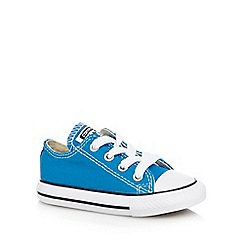 Converse - Boys' bright blue canvas trainers