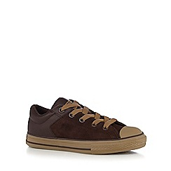 Converse - Boys' brown leather trainers