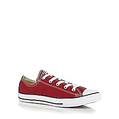 Converse - Boys' red 'Chuck Taylor AS OX' trainers