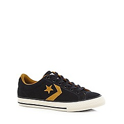 Converse - Boys' black leather trainers