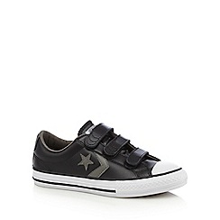 Converse - Boys' black star detail rip tape trainers