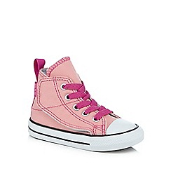 Converse - Girls' pink 'All Star' hi-top trainers