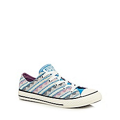 Converse - Girls' pale blue 'All Star' trainers