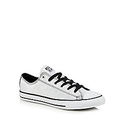 Converse - Girls' white glitter hi-top trainers