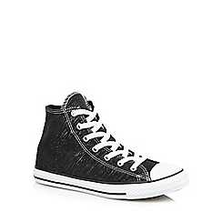 Converse - Girls' black glitter hi-top trainers