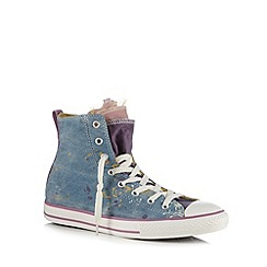 Converse - Girls' blue paint splash 'All Star' trainers