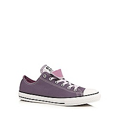 Converse - Girls' purple double tongue trainers
