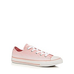 Converse - Girls' light pink striped trainers