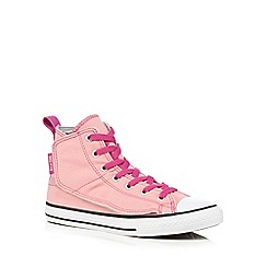 Converse - Girls' pink 'All-Star' hi-top trainers