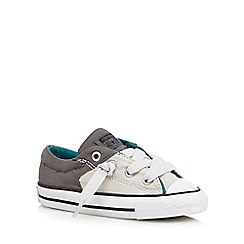 Converse - Boys' grey contrast 'All Star' trainers