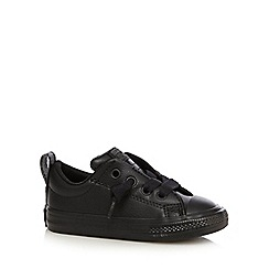 Converse - Boys' black 'All Star' lace up shoes