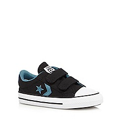 Converse - Boys' black two tab trainers
