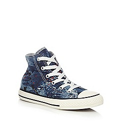 Converse - Boys' blue splatter print hi-top trainers