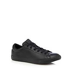 Converse - Boys' black lace up shoes