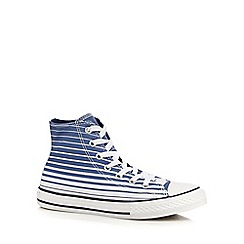 Converse - Boys' blue striped trainers