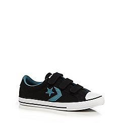 Converse - Boys' black logo applique trainers