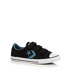 Converse - Boys' black logo applique trainers