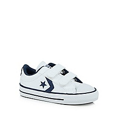 Converse - Boys' white 'Cons' double rip tape trainers